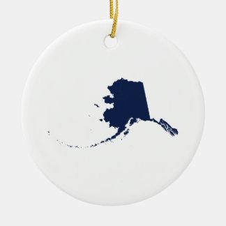 Alaska in Blue Christmas Ornament