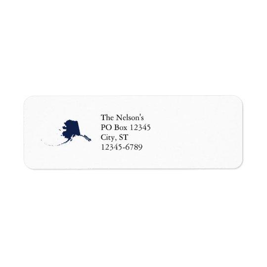 Alaska in Blue Return Address Label