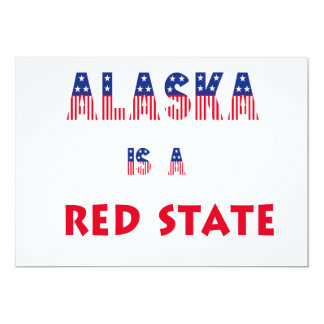 Alaska is a Red State Personalized Announcement