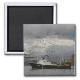 Alaska Juris, F. C. A. trawler in Dutch Harbor, AK Square Magnet