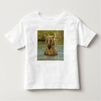 Alaska. Katmai NP. Coastal Brown Bear fishing Tee Shirts