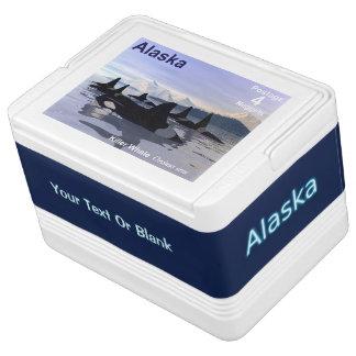 Alaska Killer Whales Stamp Igloo Cool Box