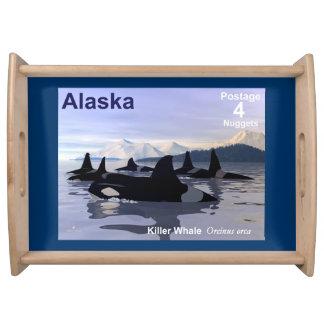 Alaska Killer Whales Stamp Serving Platters