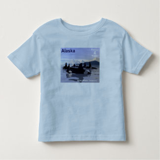 Alaska Killer Whales Stamp Toddler T-Shirt