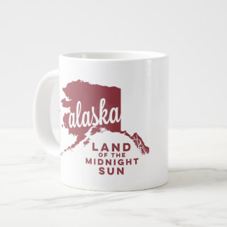alaska | land of the midnight sun | apple red jumbo mug