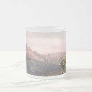Alaska Landscape Frosted Glass Mug