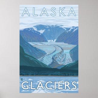 Alaska - Large Glacier Scene Poster