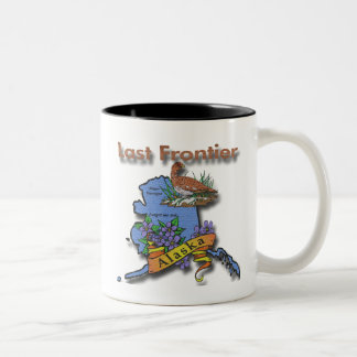 Alaska Last Frontier bird flower Coffee Mug