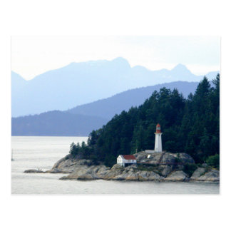 Alaska Lighthouse photo postcard