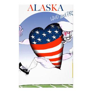 alaska loud and proud, tony fernandes stationery