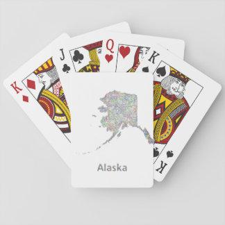 Alaska map playing cards