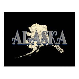 Alaska Map Post Card