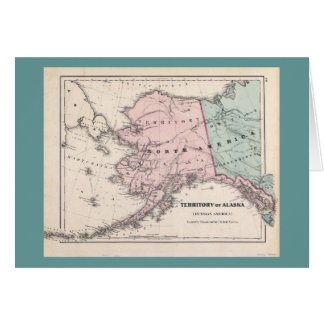 Alaska Map/Sourdough card