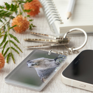 alaska marmot Double-Sided rectangular acrylic key ring