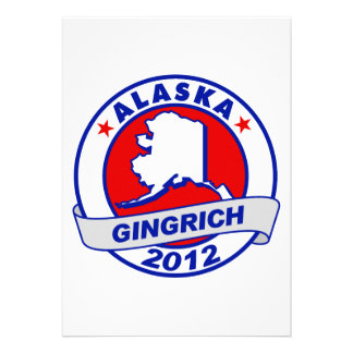 Alaska Newt Gingrich Personalized Invitations