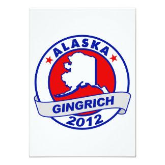 "Alaska Newt Gingrich 5"" X 7"" Invitation Card"