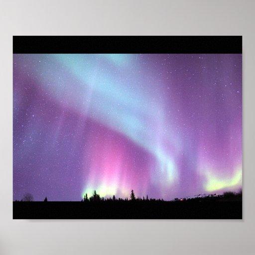 Alaska Northern Lights Sky Night Beautiful Posters