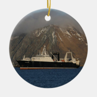 Alaska Ocean, Factory Trawler in Alaska Christmas Ornament