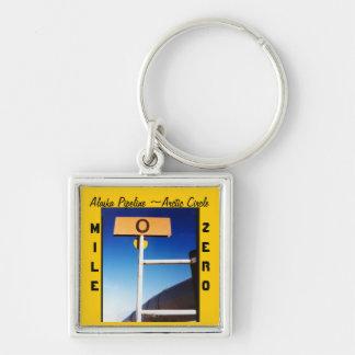 Alaska Pipeline Mile Zero Souvenir Keychain