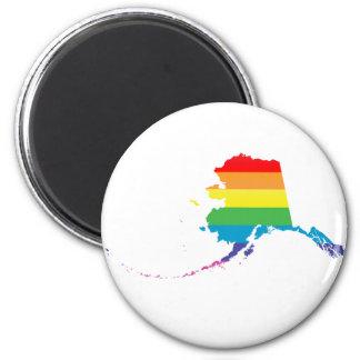alaska pride. 6 cm round magnet