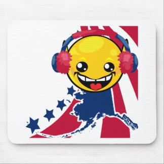 Alaska Pride Smiley Face Mousepad