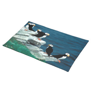 Alaska Puffins Feathered Colorful Birds Placemat