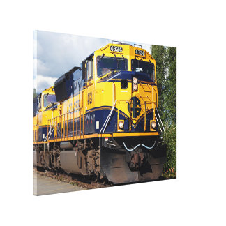 Alaska Railroad engine locomotive Canvas Print