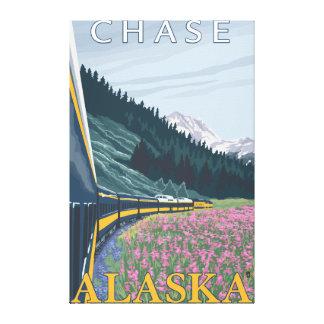 Alaska Railroad Scene - Chase, Alaska Canvas Print