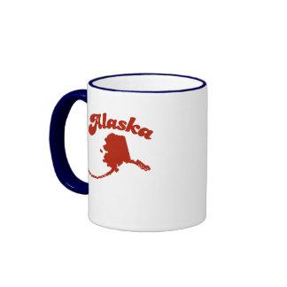 ALASKA Red State Coffee Mug