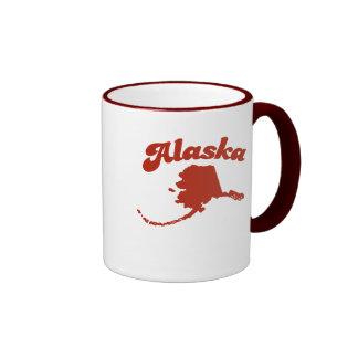 ALASKA Red State Ringer Mug
