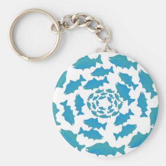 Alaska Salmon Wear Basic Round Button Key Ring