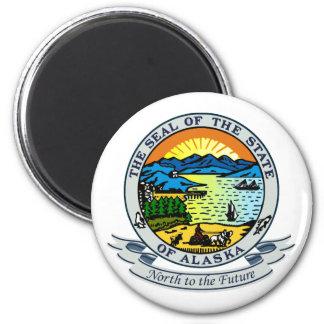 Alaska Seal 6 Cm Round Magnet