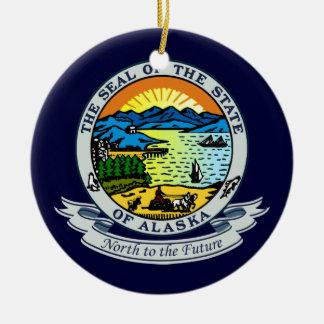 Alaska Seal Round Ceramic Decoration