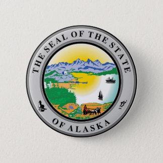 Alaska seal united states america flag symbol repu 6 cm round badge