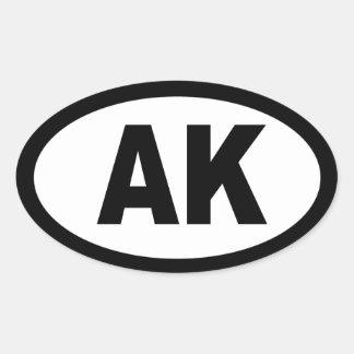 Alaska - sheet of 4 oval car stickers