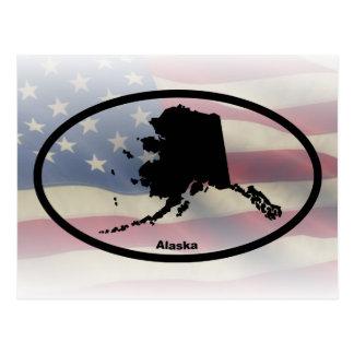 Alaska Silhouette Oval Design Postcard