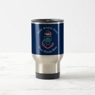 Alaska State Custom Anchor Stainless Steel Travel Mug
