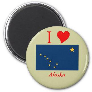Alaska State Flag 6 Cm Round Magnet