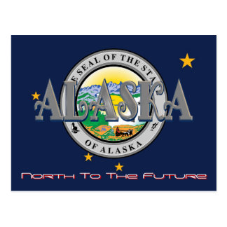 Alaska State Flag And Seal Post Card