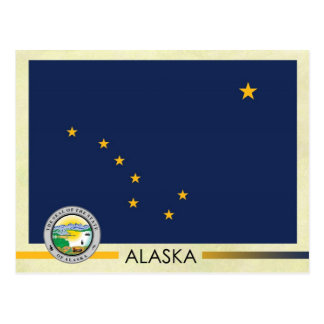 Alaska State Flag and Seal Postcard