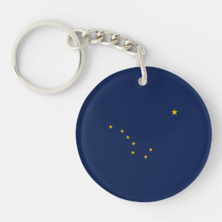 Alaska State Flag Design Key Ring