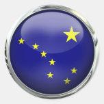 Alaska State Flag Glass Ball Stickers
