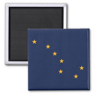 Alaska State Flag Square Magnet