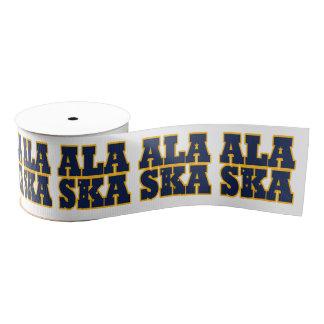 Alaska state flag typography design grosgrain ribbon