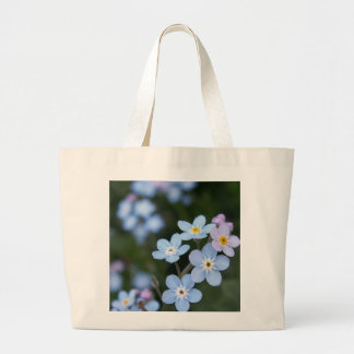 Alaska State Flower Forget me nots, tote