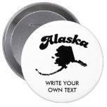 ALASKA STATE MOTTO T-SHIRT BUTTONS