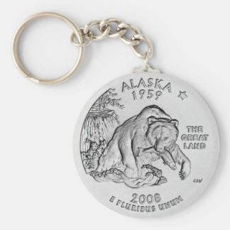 Alaska State Quarter Keychain