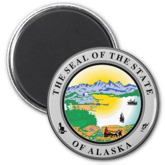 Alaska State Seal 6 Cm Round Magnet