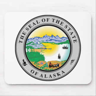 Alaska State Seal and Motto Mouse Mat