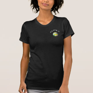 ALASKA STATE SEAL ARTISTIC! GLOBE T-Shirt